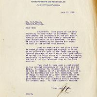 Letter from Joshua Coffin Chase to Sydney Octavius Chase (September 20, 1919)