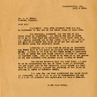 Letter from Joshua Coffin Chase to Sydney Octavius Chase (April 5, 1923)