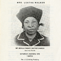 Funeral Services for the Late Mrs. Leatha Walker