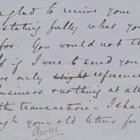Note from A. W. Macfarlane to Henry Shelton Sanford