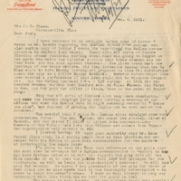 Letter from Sydney Octavius Chase to Joshua Coffin Chase (December 6, 1921)