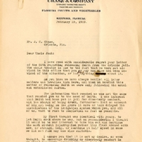 Letter from Randall Chase to Joshua Coffin Chase (February 29, 1928)