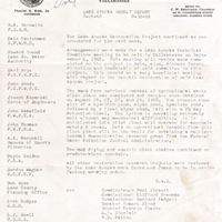 Lake Apopka Restoration Project Weekly Report (August 26 to 30, 1968)