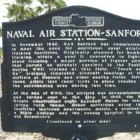 Naval Air Station Sanford Historic Marker