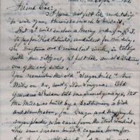 Letter from Dr. John Milton Hawks to Charles Henry Coe (April 3, 1909)