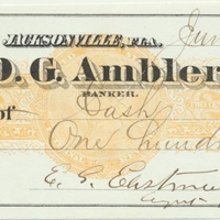 Personal Check from Edwin G. Eastman Paid to Self (June 8, 1871)
