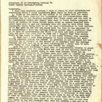 Letter from John M. May to Directors of St. Petersburg Springs Co (January 28, 1957)