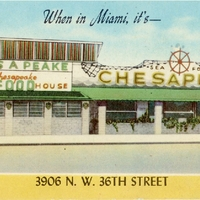 When in Miami, It's—Chesapeake Sea Food House Postcard