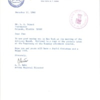 Letter from A. C. Hahn to L. A. Bryant (December 17, 1968)