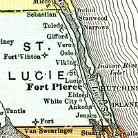 Map of St. Lucie County, 1911