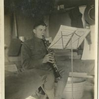 George Gormley Playing the Clarinet During World War I