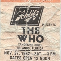 The Who Ticket Stub