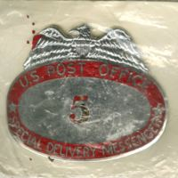 U.S. Post Office Special Delivery Messenger Badge