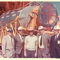 Astronaut Gordon Cooper with Management Team at the Cape Canaveral Air Force Station Launch Complex 14