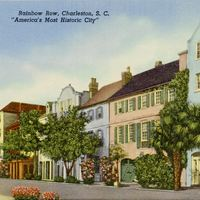 Rainbow Row Postcard