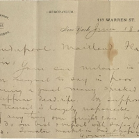 Letter from Jonathan French to Isaac Vanderpool (June 18, 1895)