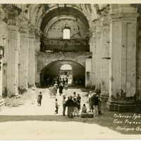 Interior Iglesia San Francisco, Antigua, Guatemala Postcard