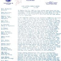 Lake Apopka Restoration Project Weekly Report (April 29 to May 3, 1968)