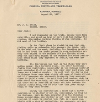 Letter from Sydney Octavius Chase to Joshua Coffin Chase (August 26, 1927)