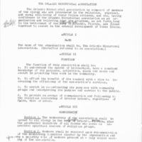 Proposed Charter of the Orlando Ministerial Association