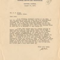 Letter from Sydney Octavius Chase to Joshua Coffin Chase (August 29, 1927)
