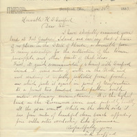 Letter from E. R. Trafford to Henry Shelton Sanford (January 31, 1883)