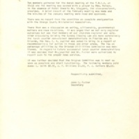 Minutes of Monthly Meeting, March 3, 1960