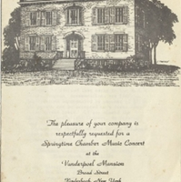 Invitation to the Springtime Chamber Music Concert at the Vanderpoel Mansion