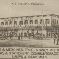A. E. Philips Drug Store Advertisement