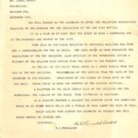 Letter from M. C. Muddleson to James D. Beggs, Jr. (January 16, 1941)