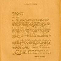 Letter from Joshua Coffin Chase to Sydney Octavius Chase (October 26, 1931)