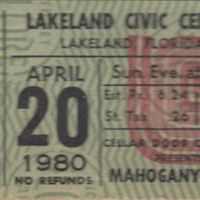Mahogany Rush Ticket Stub