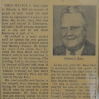 Walter C. Bass, City Father