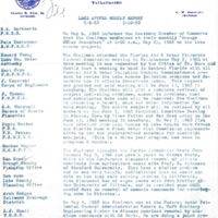 Lake Apopka Restoration Project Weekly Report (May 6 to 10, 1968)