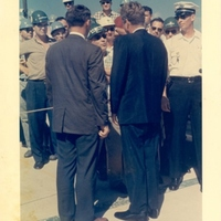 President John F. Kennedy with B. G. MacNabb at Cape Canaveral Air Force Station Launch Complex 14