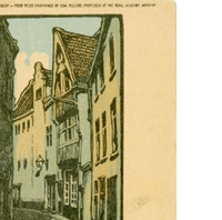 Wood Engraved View of Antwerp Postcard