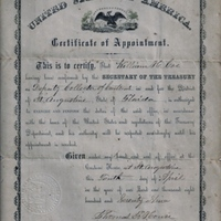 Certificate of Appointment for William H. Coe