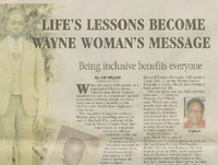Life's Lessons Become Wayne Woman's Message: Being Inclusive Benefits Everyone