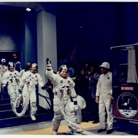 Apollo 11 Crew Entering the Transfer Van to Launch Pad 39A