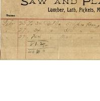A. D. Starbird Receipt for Isaac Vanderpool (February 27, 1893)