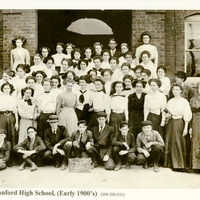 Sanford High School Students at Original Campus