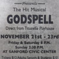 Ritz Theatre Presents the Hit Music Godspell