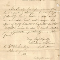 Letter from Thomas F. House to William Henry Coe (September 2, 1878)