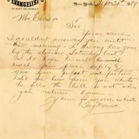 Letter from Guy Mauie to Sydney Octavius Chase (September 30, 1889)