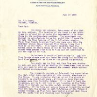 Letter from Joshua Coffin Chase to Sydney Octavius Chase (June 18, 1920)