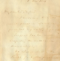 Letter from Edwyn Sandys Dawes to Henry Shelton Sanford (December 5, 1884)