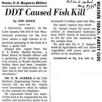 State, U.S. Reports Differ: DDT Caused Fish Kill