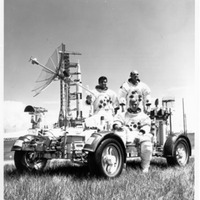 Apollo 17 Crew on a Lunar Rover