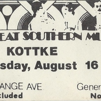 Leo Kottke Ticket Stub