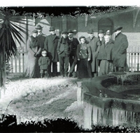 Railroad Fountain During the Freeze of 1898
